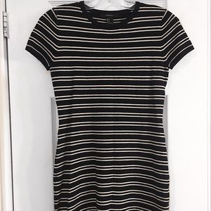 Black and White Bodycon T-Shirt Dress
